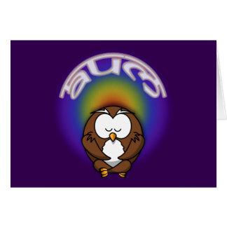 yoga owl card