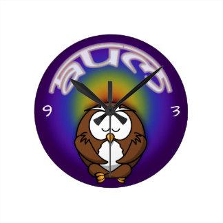 yoga owl clock