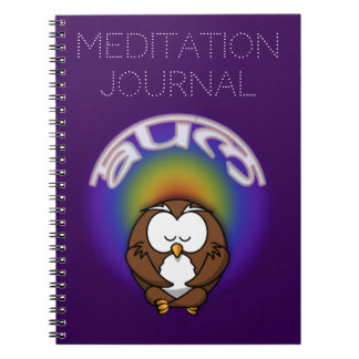 yoga owl spiral notebooks