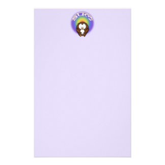 yoga owl stationery