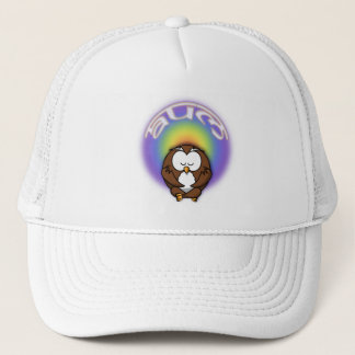 yoga owl trucker hat