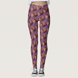 Yoga Pants Chocolate Sprinkle Doughnut Pattern