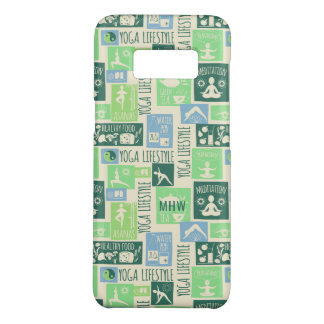 Yoga Pattern custom monogram phone cases
