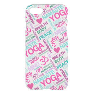 Yoga Peace and Harmony Word Cloud iPhone 8/7 Case