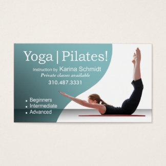 """Yoga | Pilates!"" Pilates Instruction, Yoga Class Business Card"