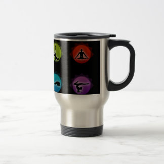 Yoga pilates travel mug
