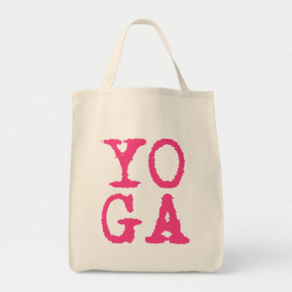 YOGA - Pink - Tote Grocery Tote Bag