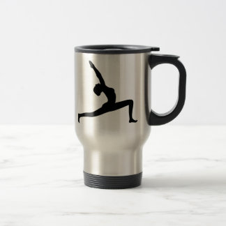 Yoga Pose Black Silhouette  Travel Mug