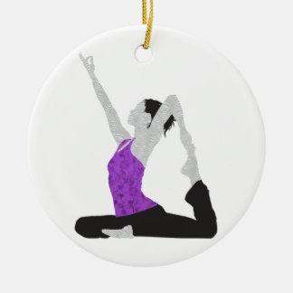 Yoga Pose Ceramic Ornament