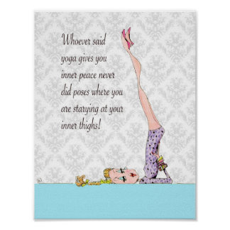 Yoga Pose for inner peace Poster