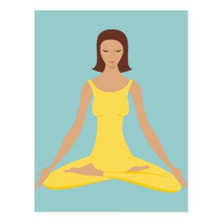 Yoga Pose Girl Postcard