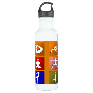 Yoga Pose Icons 710 Ml Water Bottle
