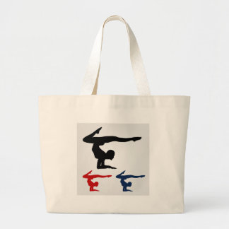 Yoga pose jumbo tote bag
