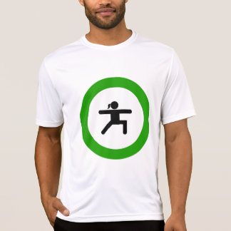 Yoga Pose Sign Mens Active Tee
