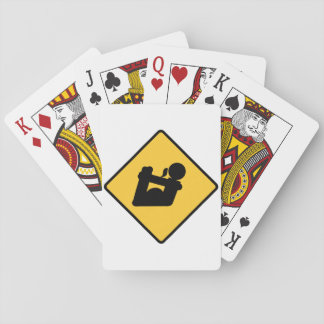 Yoga Pose Sign Playing Cards