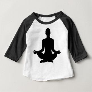 Yoga Pose Silhouette Baby T-Shirt