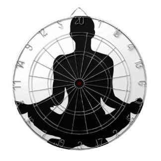 Yoga Pose Silhouette Dartboard