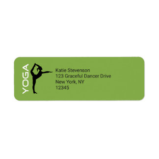 Yoga Pose Silhouette on Green Background