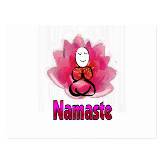 "Yoga Pose with Lotus Flower ""Namaste"" Postcards"