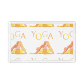 Yoga poses acrylic tray
