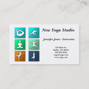Gym teacher business cards business card printing zazzle ca yoga poses business card reheart Image collections