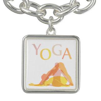 Yoga poses charm bracelet