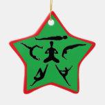 Yoga Poses - Christmas Ornaments