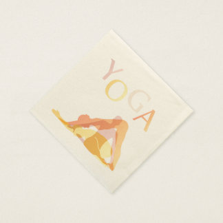 Yoga poses disposable napkins