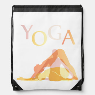 Yoga poses drawstring bag