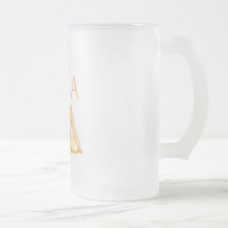 Yoga poses frosted glass beer mug