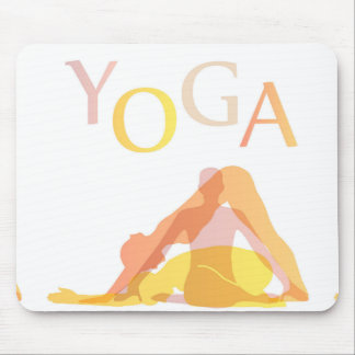 Yoga poses mouse pad