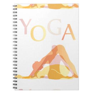 Yoga poses notebooks