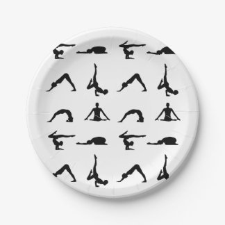 Yoga poses paper plate