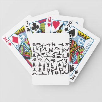 Yoga Poses Silhouettes Bicycle Playing Cards