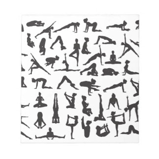 Yoga Poses Silhouettes Notepad