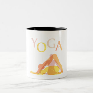 Yoga poses Two-Tone coffee mug