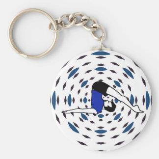 Yoga Poses - Yoga Key Cchains Basic Round Button Keychain