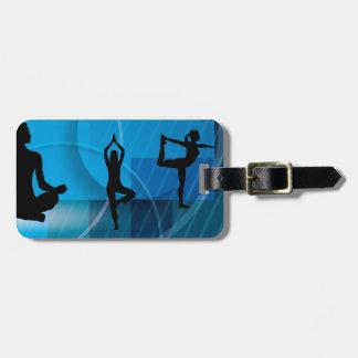 yoga position bag tag