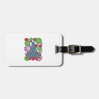 Yoga Position Luggage Tag