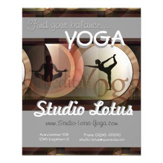 Yoga publicity merchandising flyer