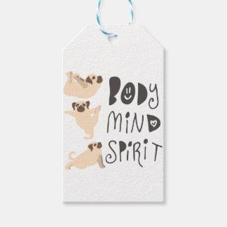 Yoga Pugs Gift Tags
