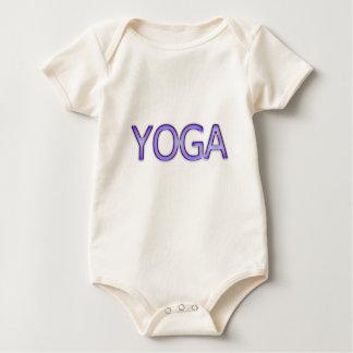Yoga Purple Text Shiny Metallic Look Typography Baby Bodysuit