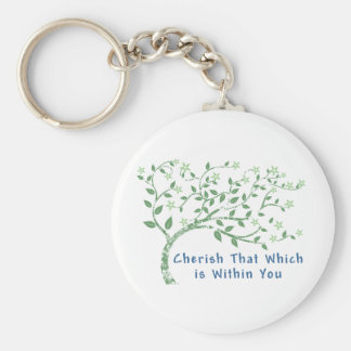 Yoga Quote: Cherish That Which is Within You Keychain