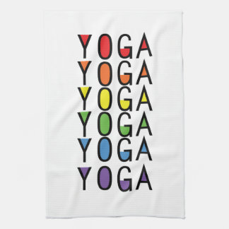 Yoga Rainbow Graphic Kitchen Towel