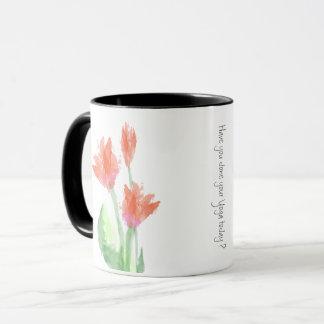 Yoga Red Tulips Mug