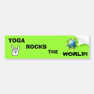 Yoga Rocks the World Bumper Sticker