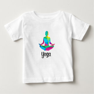 Yoga setting and fitness baby T-Shirt
