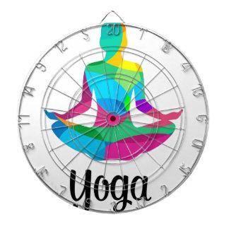 Yoga setting and fitness dartboard