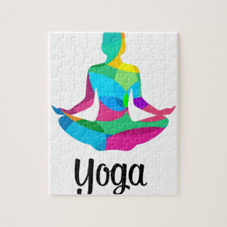 Yoga setting and fitness jigsaw puzzle