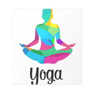Yoga setting and fitness notepad